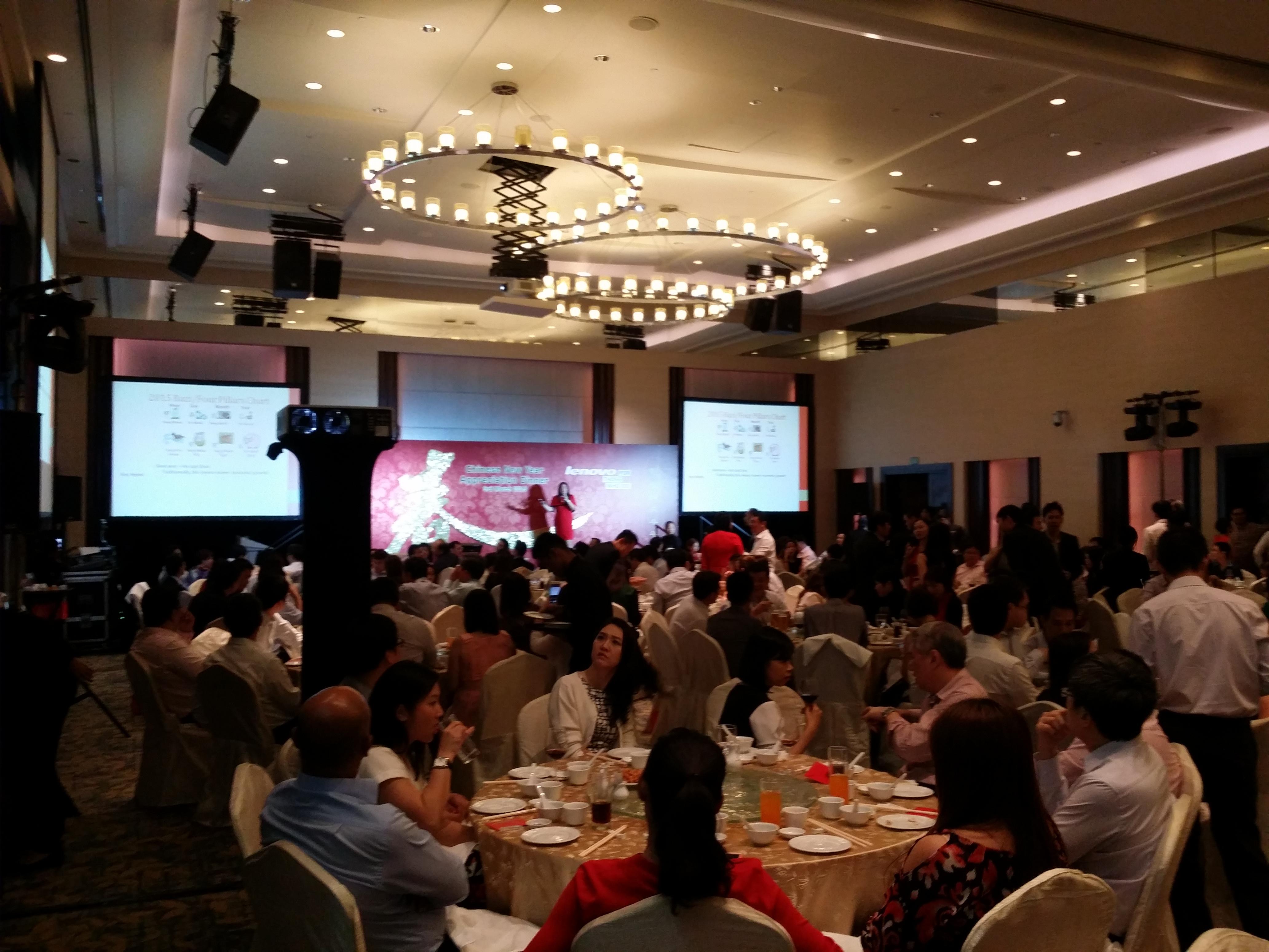 Janet Yung speaking at Lenovo